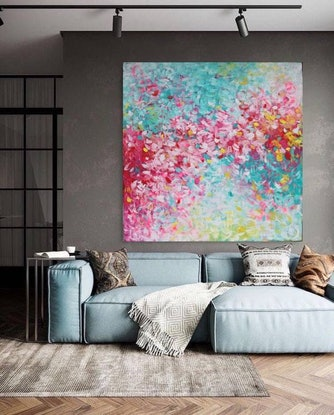 (CreativeWork) Forever in Love by Belinda Nadwie. Oil Paint. Shop online at Bluethumb.