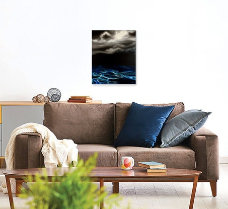 (CreativeWork) Electric Blue by Cathy Yarwood - Mahy. Oil. Shop online at Bluethumb.