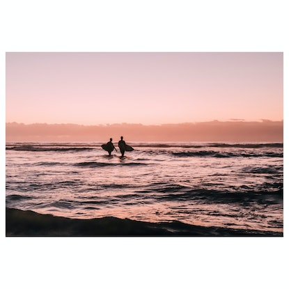 (CreativeWork) Sunrise Surf - Limited Edition Print by Georgie Lowe. Photograph. Shop online at Bluethumb.
