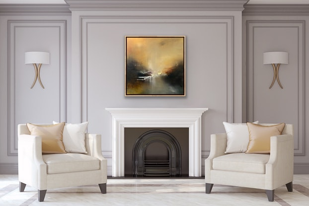 (CreativeWork) Towards the Sun II by Kris Ancog. Oil Paint. Shop online at Bluethumb.