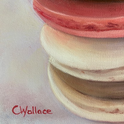 (CreativeWork) Macaron Gift by Catherine Wallace. Oil Paint. Shop online at Bluethumb.