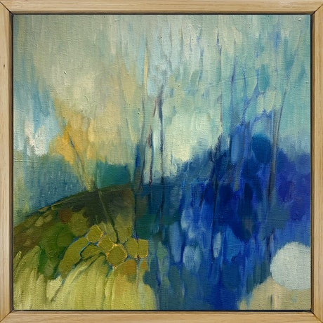 (CreativeWork) Blue Minor by Louise Isackson. Oil Paint. Shop online at Bluethumb.