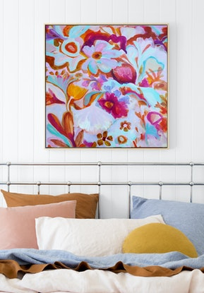 (CreativeWork) Zinnia by Ian Gunn. Acrylic Paint. Shop online at Bluethumb.