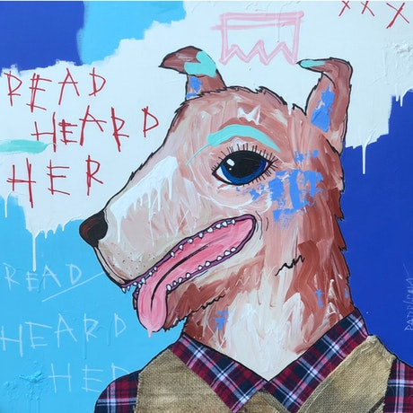 (CreativeWork) ReadHeardHer  by Nathan Paddison. Mixed Media. Shop online at Bluethumb.