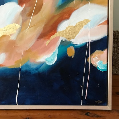 (CreativeWork) On My Mind by Marnie McKnight. Acrylic Paint. Shop online at Bluethumb.