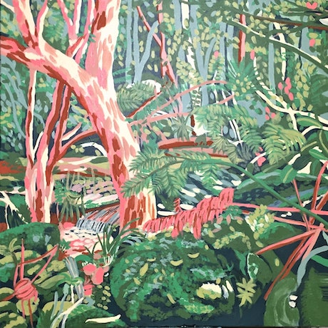 (CreativeWork) Nearly at the Falls by Olivia Dilks. Acrylic Paint. Shop online at Bluethumb.