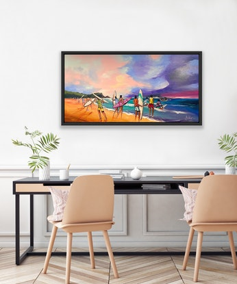 (CreativeWork) Never Ending Journey - Original Artwork  by Donald James Waters OAM. Acrylic Paint. Shop online at Bluethumb.