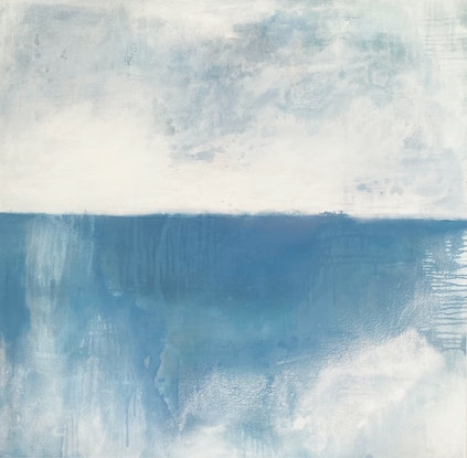 (CreativeWork) Subtlety of Nature Blue by Kathleen Rhee. Acrylic Paint. Shop online at Bluethumb.