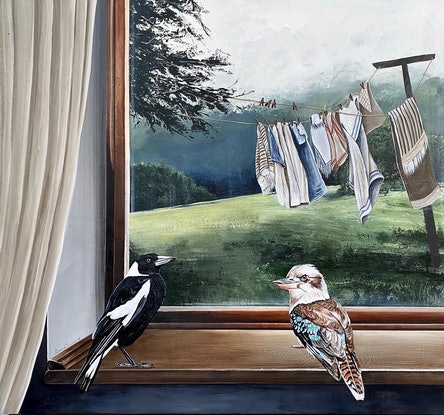 (CreativeWork) The Birds and the Breeze  Ed. 1 of 50 by Bonnie Larden. Print. Shop online at Bluethumb.