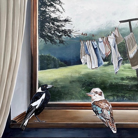 (CreativeWork) The Birds and the Breeze Print Ed. 1 of 50 by Bonnie Larden. Print. Shop online at Bluethumb.