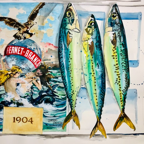 (CreativeWork) From the Sea - Vintage! 15/15 by Silvia Rubboli Golf. Watercolour Paint. Shop online at Bluethumb.
