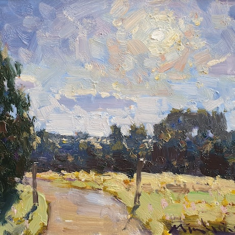 (CreativeWork) Morning sun shines on Maleny  by Minhan Cho. Oil Paint. Shop online at Bluethumb.