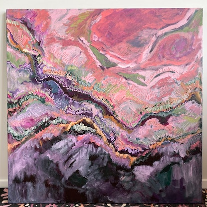 (CreativeWork) Sleepless at midnight by Jessie Beard. Acrylic Paint. Shop online at Bluethumb.