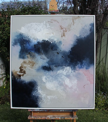 (CreativeWork) Cloud Nine by Sue Dyde. Mixed Media. Shop online at Bluethumb.