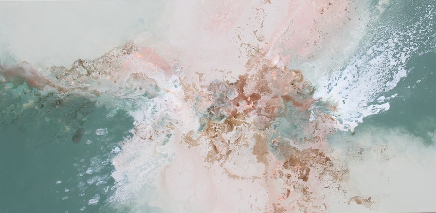(CreativeWork) Pearl Dust by Sue Dyde. Mixed Media. Shop online at Bluethumb.