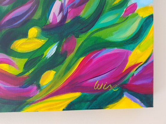 (CreativeWork) Bursting with joy 3 by Kate Wise. Acrylic Paint. Shop online at Bluethumb.