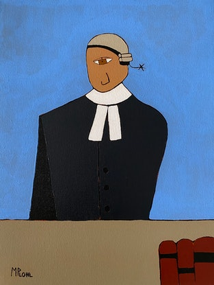 (CreativeWork) The Barrister - Commission Dominic by Mick Plohl. Acrylic Paint. Shop online at Bluethumb.