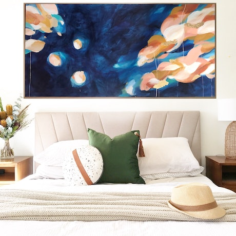 (CreativeWork) Blossoming Curiosity  by Marnie McKnight. Acrylic Paint. Shop online at Bluethumb.