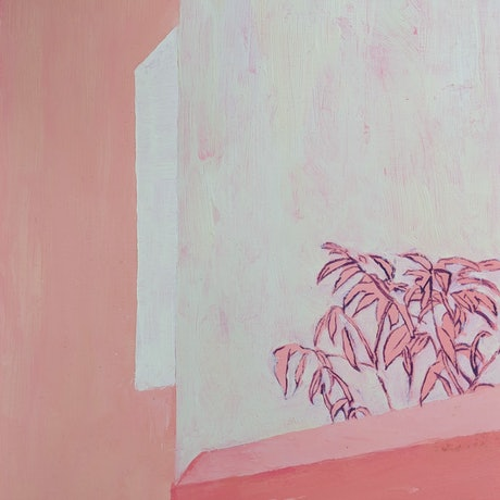 (CreativeWork) Pink Lisbon  by Amanda Cutlack. Oil Paint. Shop online at Bluethumb.