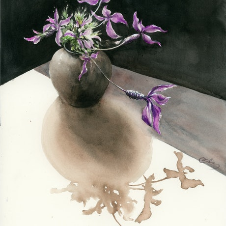 (CreativeWork) Shadow 2 by Cecilia Xiao. Watercolour Paint. Shop online at Bluethumb.