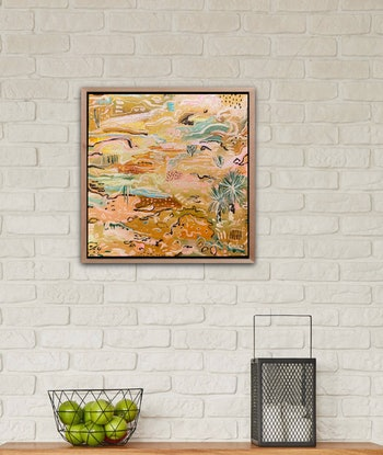 (CreativeWork) Outback Wander 2  -  Framed in Oak by Carley Bourne. Acrylic Paint. Shop online at Bluethumb.
