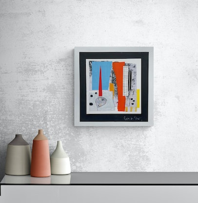 (CreativeWork) The Obelisk by natalie green. Mixed Media. Shop online at Bluethumb.
