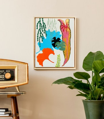 (CreativeWork) Oasis 3 by @theplant _kingdom. Acrylic. Shop online at Bluethumb.
