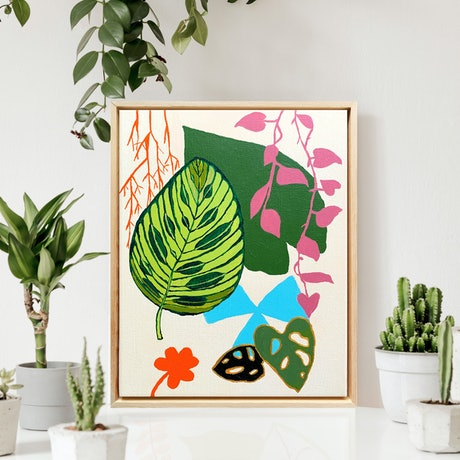 (CreativeWork) Oasis 4 by @theplant _kingdom. Acrylic Paint. Shop online at Bluethumb.