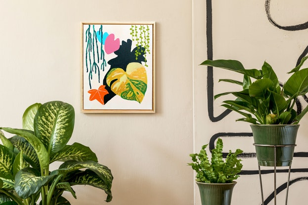 (CreativeWork) Oasis 5 by @theplant _kingdom. Acrylic. Shop online at Bluethumb.