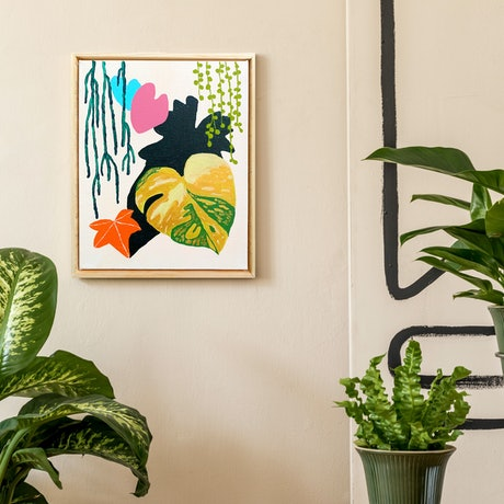 (CreativeWork) Oasis 5 by @theplant _kingdom. Acrylic Paint. Shop online at Bluethumb.