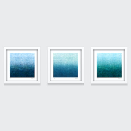 (CreativeWork) Gradual Series- Set of 3- White Box Frame Ed. 1 of 35 by George Hall. Print. Shop online at Bluethumb.