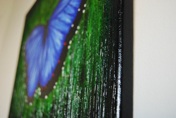 (CreativeWork) BUTTERFLY BLUE by Melissa Page. Mixed Media. Shop online at Bluethumb.