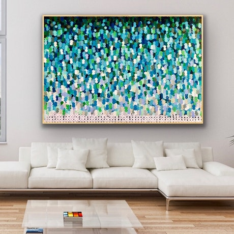 (CreativeWork) Murray darling 183x122 large abstract by Sophie Lawrence. Acrylic Paint. Shop online at Bluethumb.