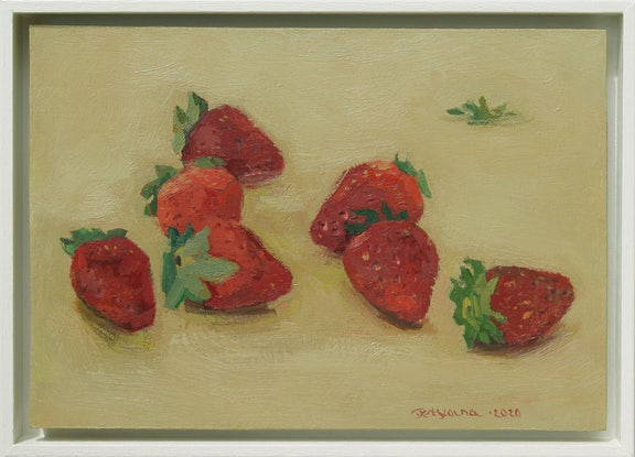 (CreativeWork) Strawberries by Tetyana Khytko. Oil Paint. Shop online at Bluethumb.