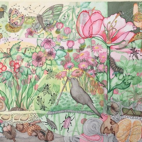 (CreativeWork) In the garden by Lisa Murphy. Drawings. Shop online at Bluethumb.