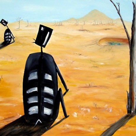 (CreativeWork) WAITING FOR THE RAINS by Garry Arnephy. Oil Paint. Shop online at Bluethumb.