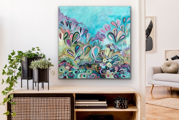 (CreativeWork) Spring Blossom - Commission for Carolina  by Jessie Beard. Acrylic Paint. Shop online at Bluethumb.