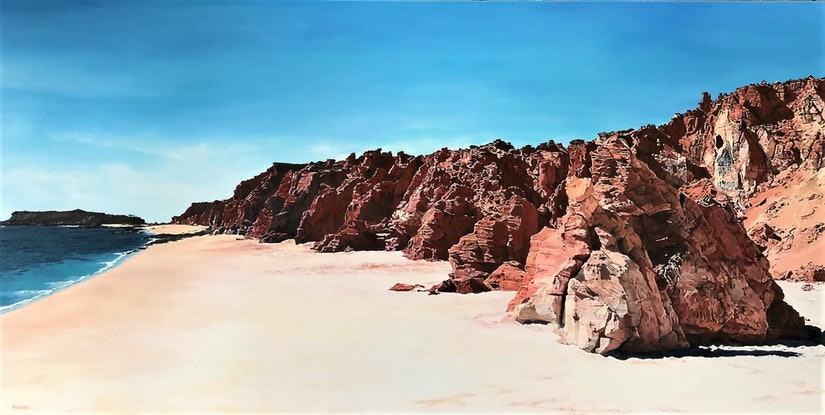 (CreativeWork) Cape Leveque, W.A. by M.A. Hobbs. Oil. Shop online at Bluethumb.