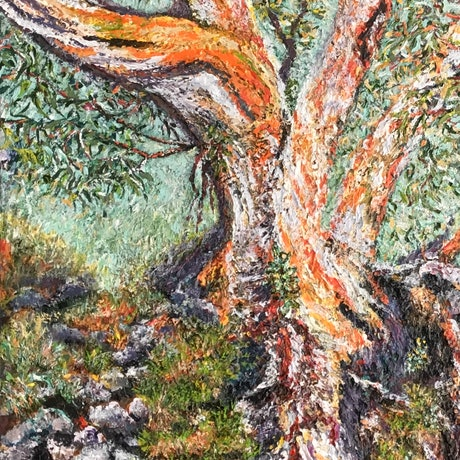 (CreativeWork) Snow Gum In Its Element - TEXTURED by Sharon DeSailly. Acrylic Paint. Shop online at Bluethumb.