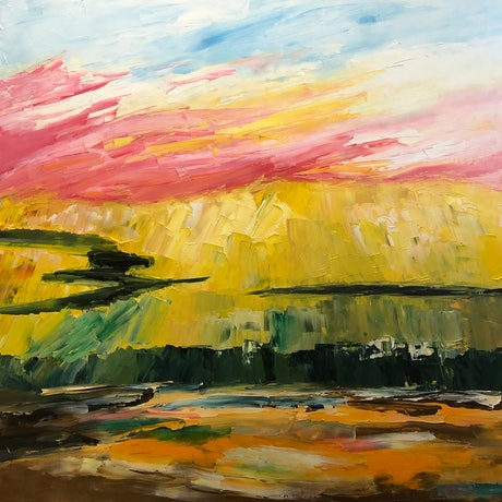 (CreativeWork) Yellow makes me Happy by Lisa Ingerson. Oil Paint. Shop online at Bluethumb.
