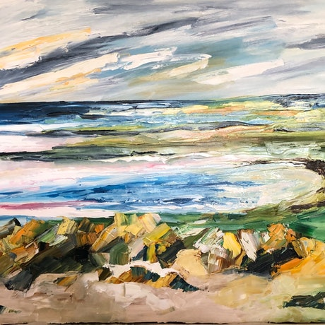 (CreativeWork) Getting away from it All by Lisa Ingerson. Oil Paint. Shop online at Bluethumb.