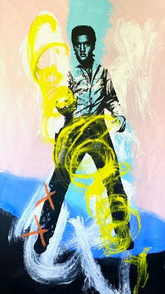 (CreativeWork) Here comes the hot stepper by Shane Bowden. Mixed Media. Shop online at Bluethumb.