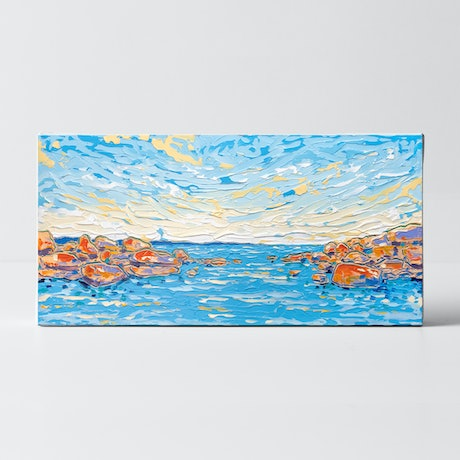 (CreativeWork) Ocean Vista 4 by Joseph Villanueva. Acrylic Paint. Shop online at Bluethumb.