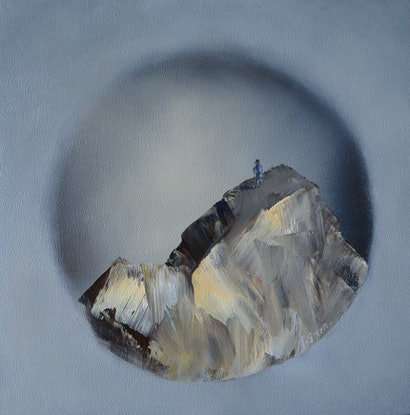 (CreativeWork) Reaching the Summit 2 by Elaine Green. Oil Paint. Shop online at Bluethumb.