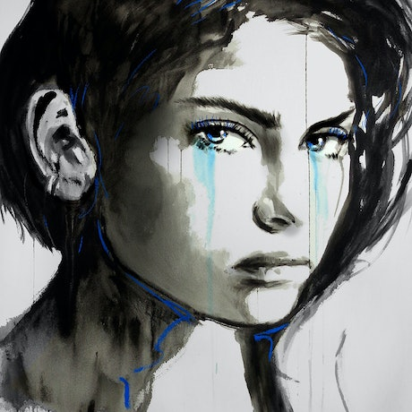 (CreativeWork) RESTLESS BLUE by loui jover. Other Media. Shop online at Bluethumb.