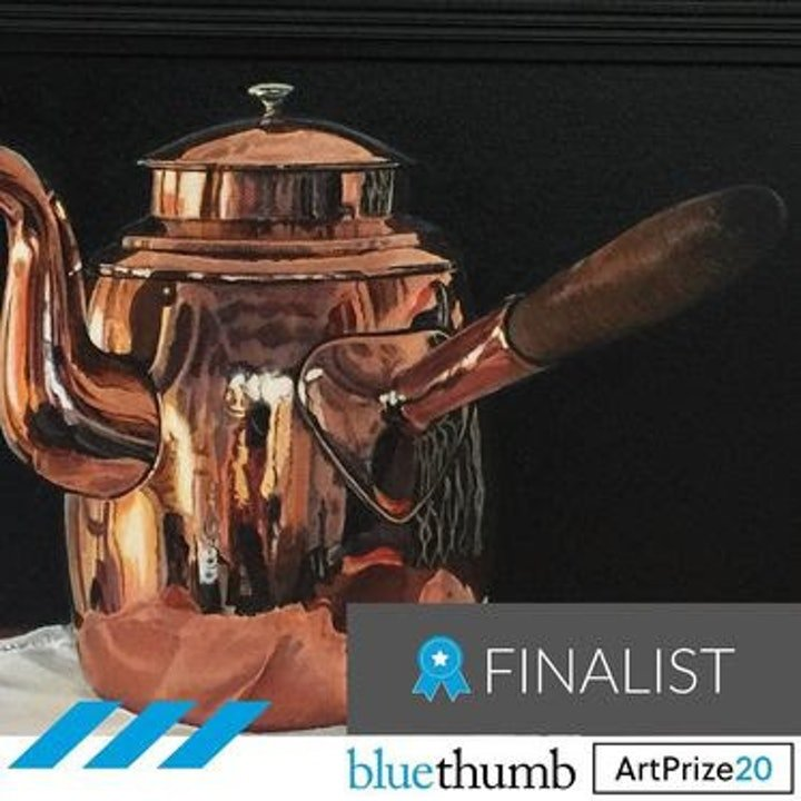 (CreativeWork) Copper Kettle by Kevan Rigby. Oil Paint. Shop online at Bluethumb.