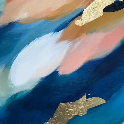 (CreativeWork) Hushed Latitude (M) by Marnie McKnight. Acrylic Paint. Shop online at Bluethumb.