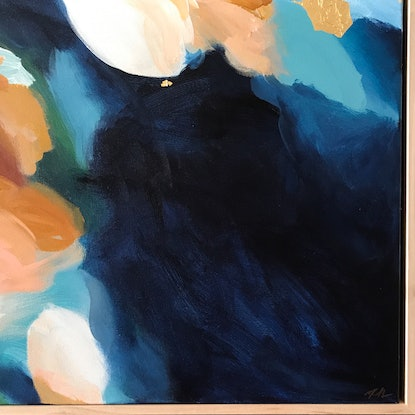 (CreativeWork) Celestial Fabric by Marnie McKnight. Acrylic Paint. Shop online at Bluethumb.