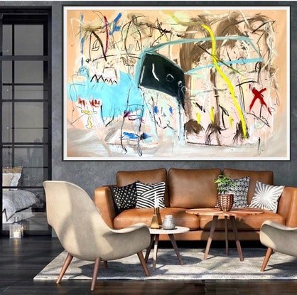 (CreativeWork) Bubbles in Braxton by Shane Bowden. Mixed Media. Shop online at Bluethumb.