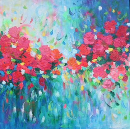 (CreativeWork) Love is the greatest  thing by Belinda Nadwie. Oil Paint. Shop online at Bluethumb.